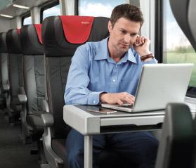 práce ve vlaku