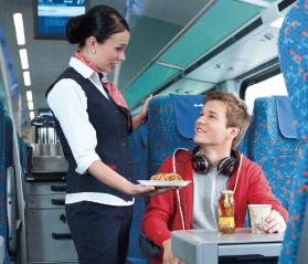 občerstvení ve vlaku
